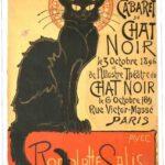 Le Chat Noir - оригинильные рекламные листовки конца XIX века