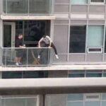 Парень перешел между балконами по узкому парапету с риском для жизни- все ради того, чтобы спасти свою плачущую питомицу